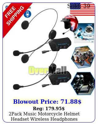 pack music motorcycle helmet headset wireless headphones bluetooth ed
