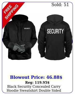 black security concealed carry hoodie sweatshirt double side