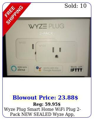 wyze plug smart home wifi plug pack sealed wyze app alexagoogle iftt