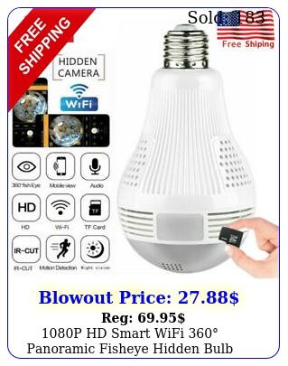 p hd smart wifi panoramic fisheye hidden bulb light spy camera lamp us