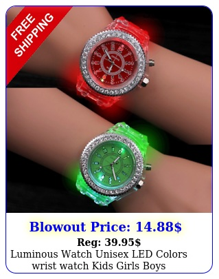 luminous watch unisex led colors wrist watch kids girls boy