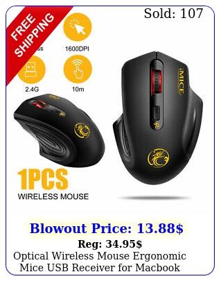 optical wireless mouse ergonomic mice usb receiver macbook laptop desktop p