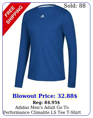 adidas men's adult go to performance climalite ls tee tshirt sport color choic