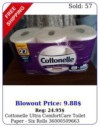 cottonelle ultra comfortcare toilet paper six roll