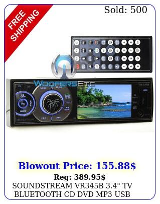 soundstream vrb tv bluetooth cd dvd mp usb w amplifier car stere