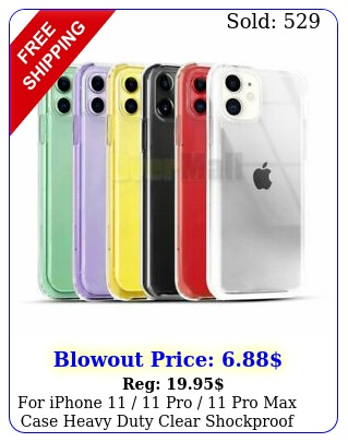 iphone  pro  pro max case heavy duty clear shockproof cove