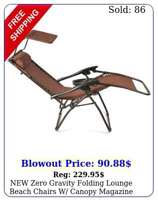 zero gravity folding lounge beach chairs w canopy magazine cup holder se