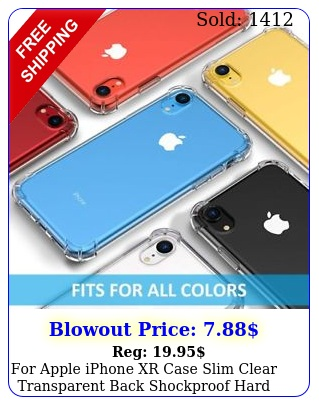 apple iphone xr case slim clear transparent back shockproof hard phon
