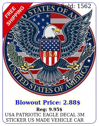 usa patriotic eagle decal m sticker us made vehicle car truck window wal