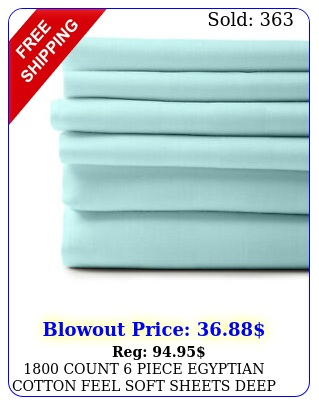 count piece egyptian cotton feel soft sheets deep pockets pillowcase