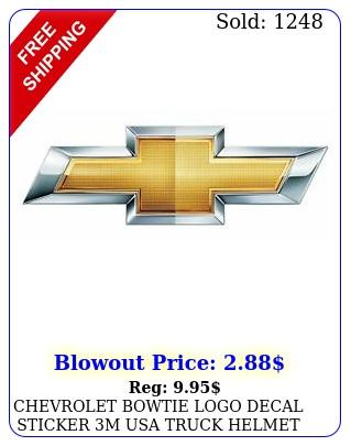 chevrolet bowtie logo decal sticker m usa truck helmet vehicle window wall ca