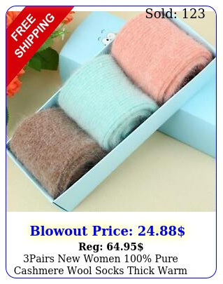 pairs women pure cashmere wool socks thick warm comfortable sock
