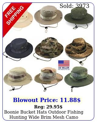 boonie bucket hats outdoor fishing hunting wide brim mesh camo safari sun ca