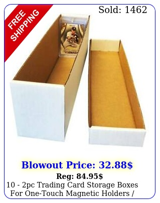 pc trading card storage boxes onetouch magnetic holders toploader