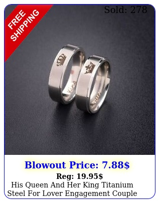 his queen king titanium steel lover engagement couple rings gif