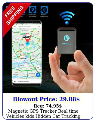 magnetic gps tracker real time vehicles kids hidden car tracking device gsm gpr