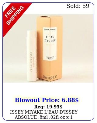 issey miyake l'eau d'issey absolue ml fl oz x perfume spray sample via