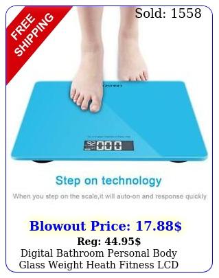 digital bathroom personal body glass weight heath fitness lcd scale lbk