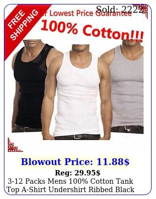 packs mens cotton tank top ashirt undershirt ribbed black white gra