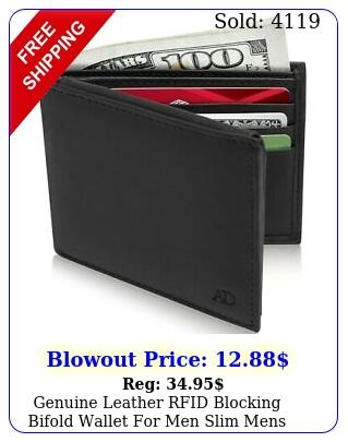 genuine leather rfid blocking bifold wallet men slim mens wallet minimalis