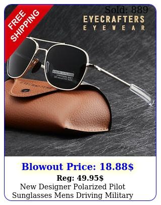 designer polarized pilot sunglasses mens driving military aviator sunglasse