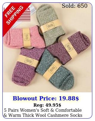 pairs women's soft comfortable warm thick wool cashmere socks siz