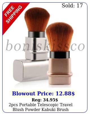 pcs portable telescopic travel blush powder kabuki brush foundation makeup too