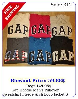 gap hoodie men's pullover sweatshirt fleece arch logo jacket s m l xl xx