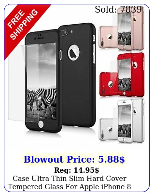 case ultra thin slim hard cover tempered glass apple iphone s plus