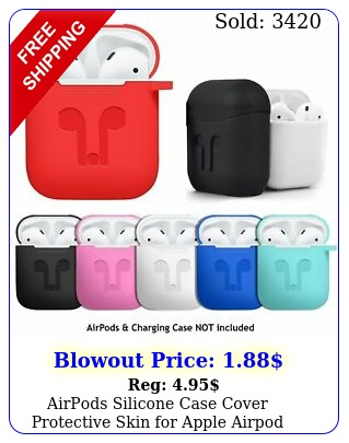 airpods silicone case cover protective skin apple airpod charging cas
