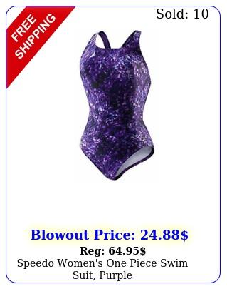 speedo women's one piece swim suit purpl
