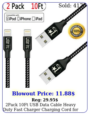 pack ft usb data cable heavy duty fast charger charging cord iphone