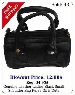 genuine leather ladies black small shoulder bag purse girls cute handba