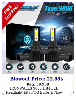 ironwalls hb led headlight kits fog bulbs hilow beam w lm