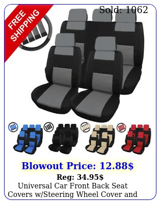 universal car front back seat covers wsteering wheel cover belt pads se