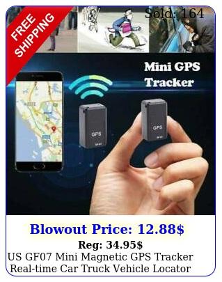 us gf mini magnetic gps tracker realtime car truck vehicle locator gsm gpr