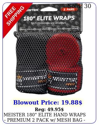 meister elite hand wraps premium pack w mesh bag elastic boxing mm