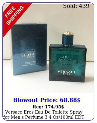 versace eros eau de toilette spray men's perfume ozml edt i