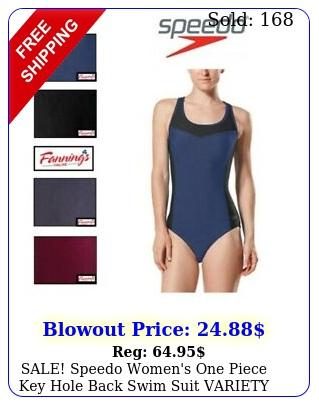 sale speedo women's one piece key hole back swim suit variety szclr