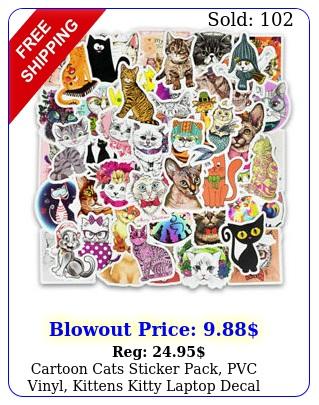 cartoon cats sticker pack pvc vinyl kittens kitty laptop decal bomb lot p