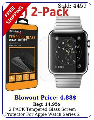 pack tempered glass screen protector apple watch series  mm m