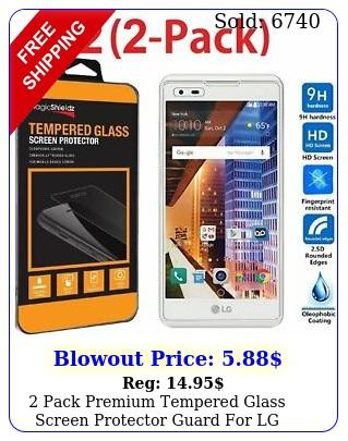 pack premium tempered glass screen protector guard lg tribute hd l