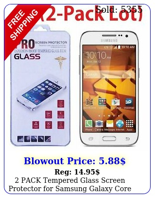 pack tempered glass screen protector samsung galaxy core prime g g