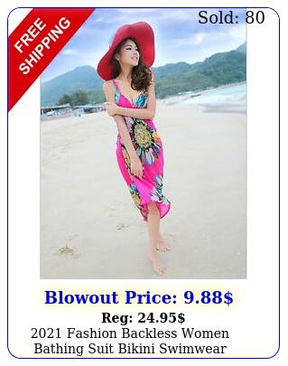 fashion backless women bathing suit bikini swimwear coverup beach dres