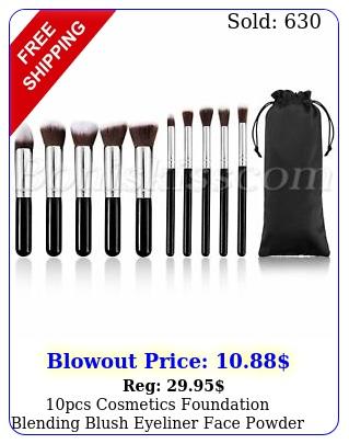 pcs cosmetics foundation blending blush eyeliner face powder makeup brush se
