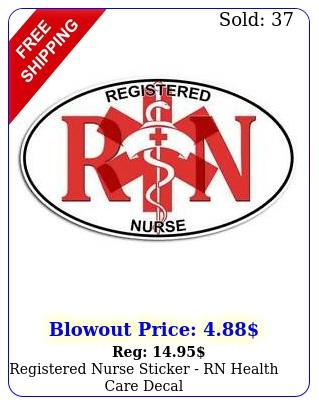 registered nurse sticker rn health care deca