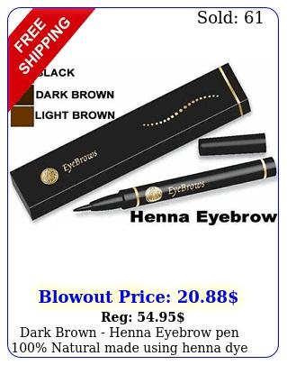 dark brown henna eyebrow pen natural made using henna dy