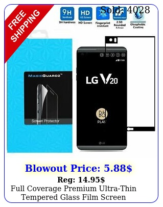 full coverage premium ultrathin tempered glass film screen protector lg