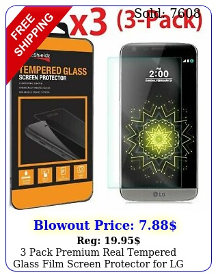 pack premium real tempered glass film screen protector lg