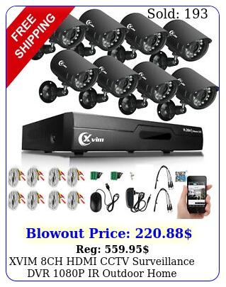 xvim ch hdmi cctv surveillance dvr p ir outdoor home security camera syste